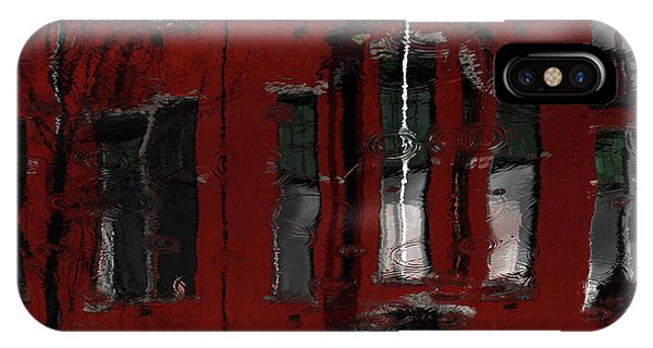 Water Droplets iPhone Case - Red House Reflections by Gilbert Claes
