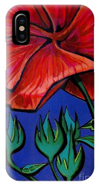 Red Ibiscus - Botanical IPhone Case