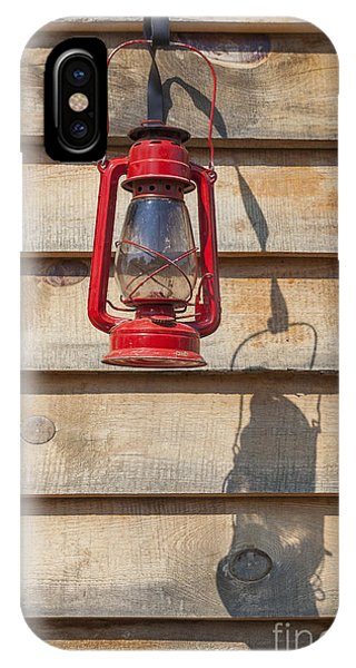 IPhone Case featuring the photograph Red Kerosene Lantern by Bryan Mullennix