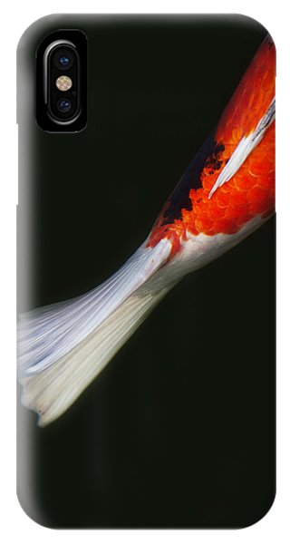 Red Koi Tail Down Vertical IPhone Case