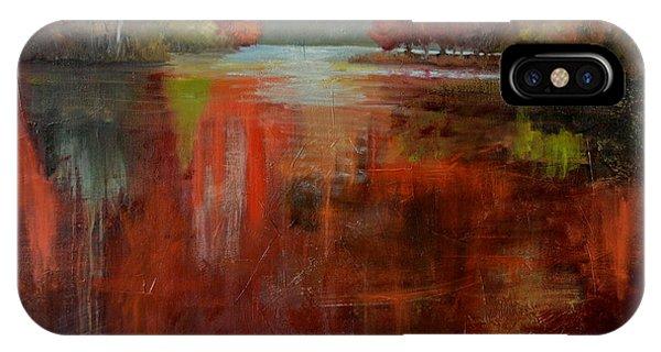 iPhone Case - Red Lake by Karen Langley