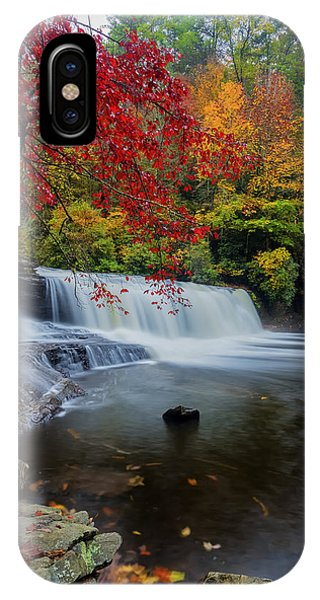 Red Leaves In Dupoint Park Hooker Falls IPhone Case
