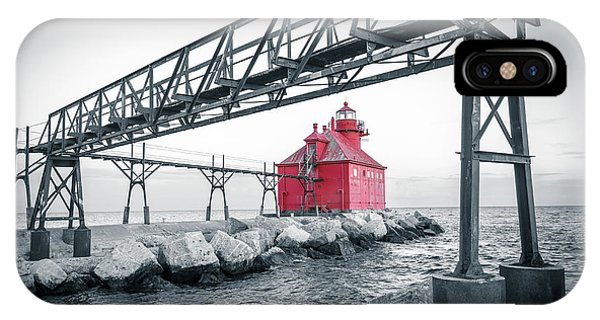 Red Light On Lake Michigan IPhone Case