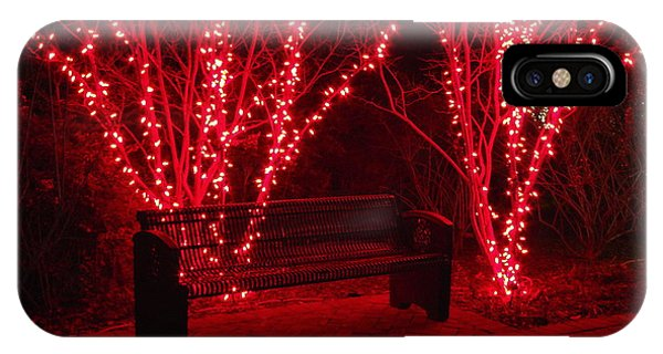 Red Lights And Bench IPhone Case