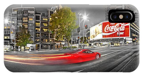 Red Lights Sydney Nights IPhone Case
