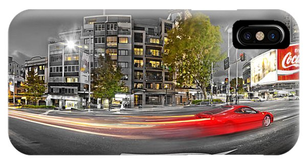 Australia iPhone Case - Red Lights Sydney Nights by Az Jackson