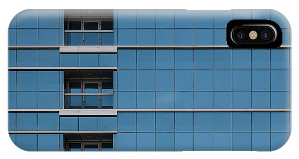 Buildings iPhone Case - Red Line Building. by Harry Verschelden