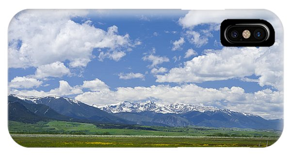 Red Lodge Spring Scene 1 IPhone Case