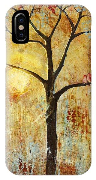 Artwork iPhone Case - Red Love Birds In A Tree by Blenda Studio