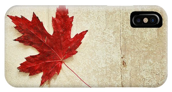 Red Maple Leaf Phone Case by Isabel Poulin
