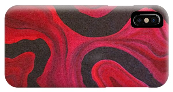 Donation iPhone Case - Red by Megan Washington