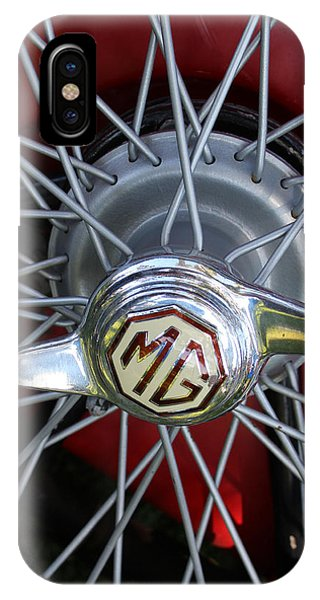 Red Mg Wire Spoke Rim Phone Case by Mark Steven Burhart