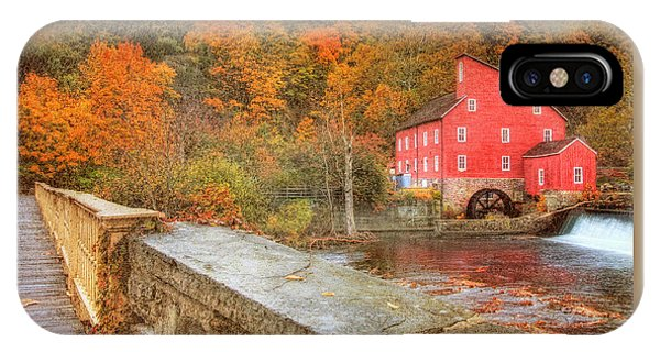 Red Mill With Texture IPhone Case