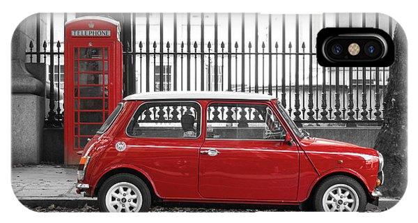 Red Mini Cooper In London IPhone Case