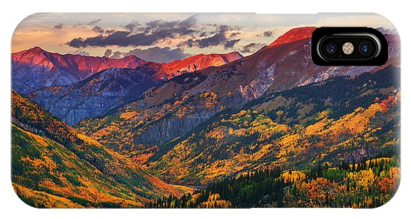 Red Mountain Pass Sunset IPhone Case