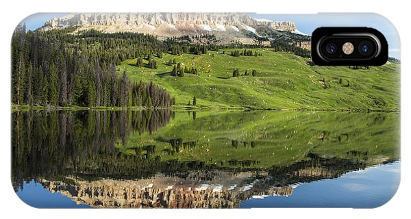 Red Mountain Reflection IPhone Case