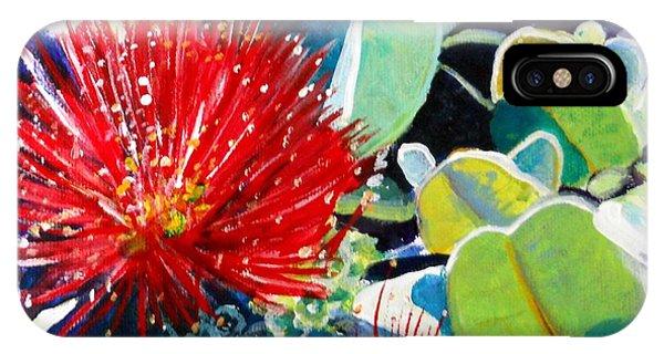 Red Ohia Lehua Flower IPhone Case