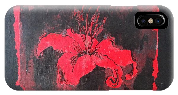 Donation iPhone Case - Red On Black by Megan Washington
