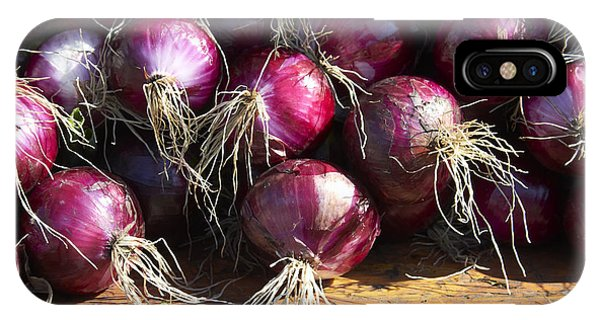 iPhone Case - Red Onions by Tony Cordoza