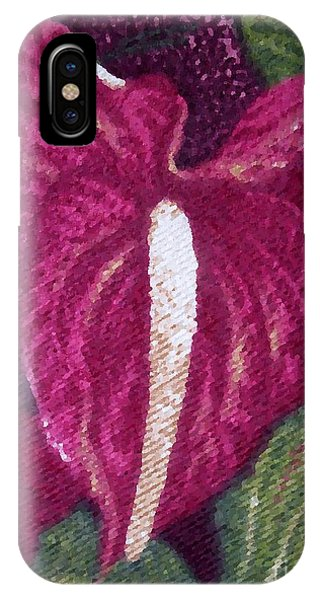 Red Orchid Print IPhone Case