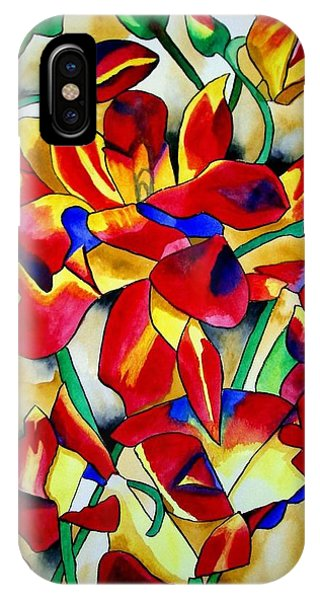 Red Orchids Phone Case by Sacha Grossel