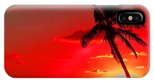 Red Palm IPhone Case