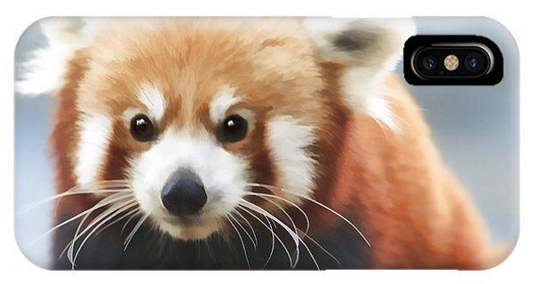 Red Panda Staring IPhone Case