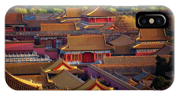 Forbidden City iPhone Case - Red Pavilion Among Old Imperials by William Perry