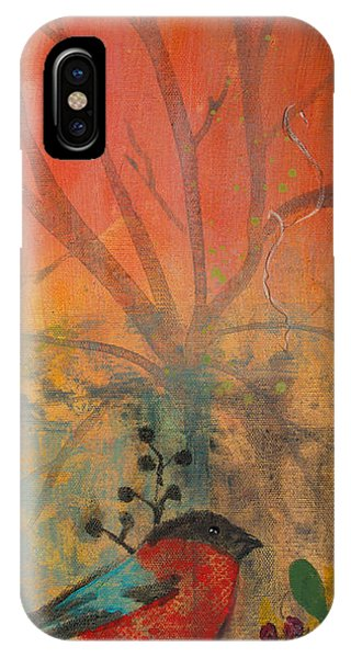 Red Peace Bird IPhone Case