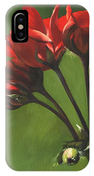 Red Pelargonium IPhone Case