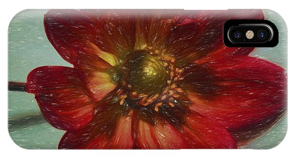 Red Petal Sketch IPhone Case