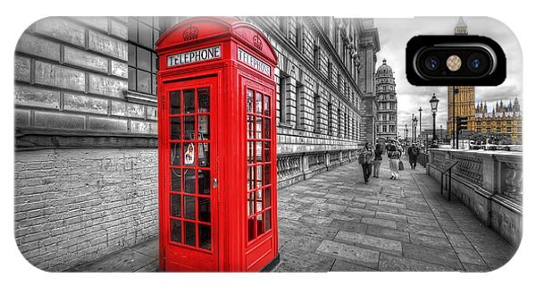 Red Phone Box And Big Ben IPhone Case