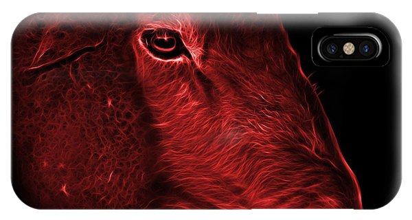Dorset iPhone Case - Red Polled Dorset Sheep - 1643 F by James Ahn