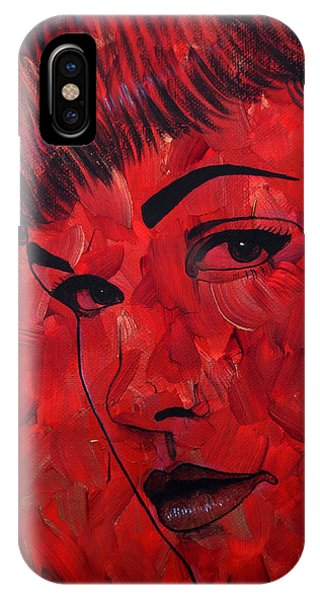 Red Pop Bettie IPhone Case