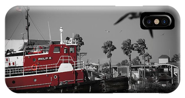 Red Pop Tugboat IPhone Case