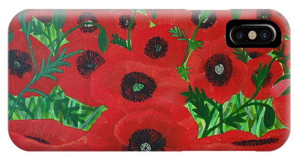 Red Poppies 1 IPhone Case