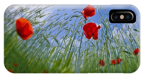 Poppies iPhone Case - Red Poppies And Blue Sky by Melanie Viola