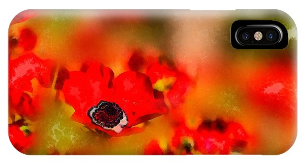 Red Poppies Inspiration IPhone Case