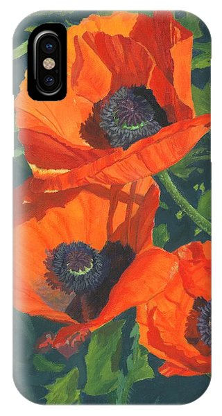 Red Poppies Three IPhone Case