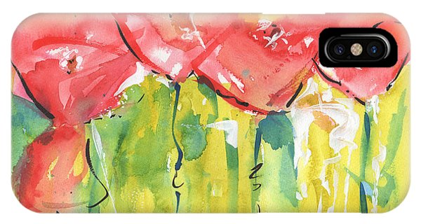 Red Poppy Party IPhone Case