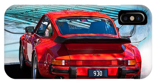 Red Porsche 930 Turbo IPhone Case