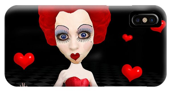 Red Queen Of Hearts IPhone Case