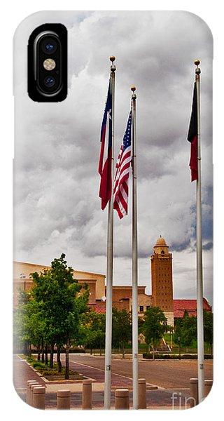 IPhone Case featuring the photograph Red Raider Spirit Arena by Mae Wertz