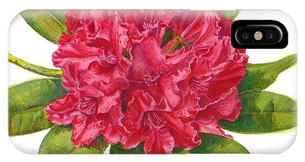 Red Rhododendron  IPhone Case
