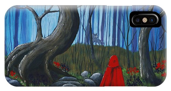 Red Riding Hood In The Forest IPhone Case