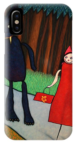Fairy iPhone Case - Red Ridinghood by James W Johnson