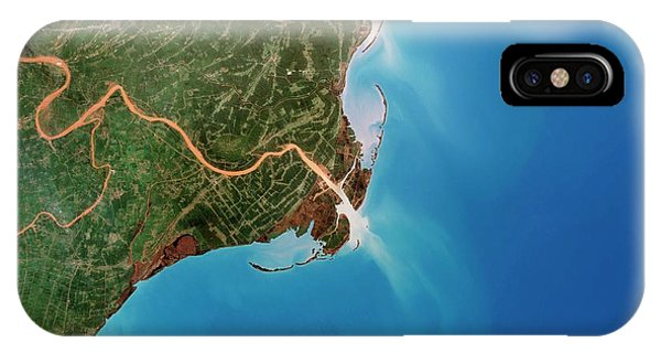 Delta iPhone Case - Red River Delta by Planetobserver/science Photo Library