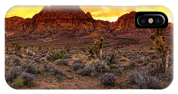 Red Rock Canyon Las Vegas Nevada Fenced Wonder IPhone Case