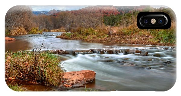 Cathedral Rock iPhone Case - Red Rock Crossing by Ryan Smith