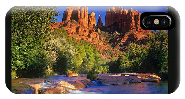 Cathedral Rock iPhone Case - Red Rock Crossing by Timm Chapman